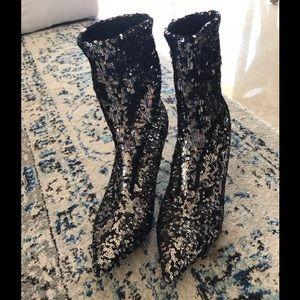 Valentino sequin boots
